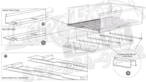 47 55 first series chevrolet pickup rust repair panels