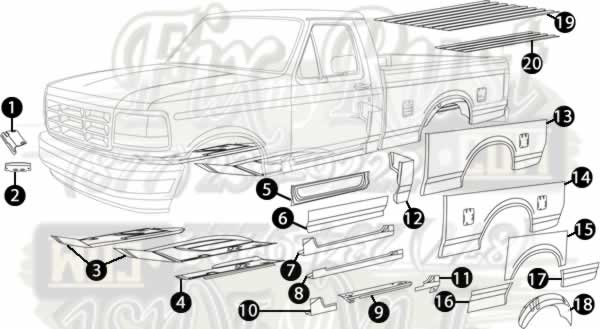 1987 1996 f 150 rust repair panels 1998 ford ranger 4x4 diagram #7