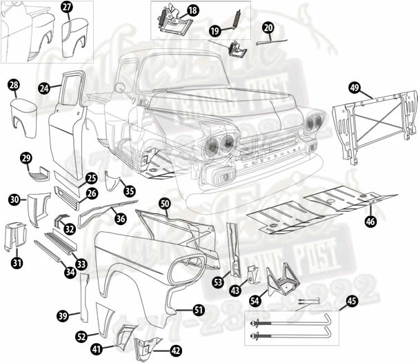 Chevy Impala Wiring Diagram To A Gif Inside likewise P773 together with Fender Emblems furthermore 58 59 2nd Series Chevy Pickup Body Parts moreover 4rcan Chevrolet Impala Find Vehicle Id Number. on chevy 1959 chevrolet impala